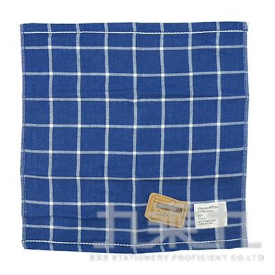 TS-2503SKETCH 格紋小方巾/深藍 34x35