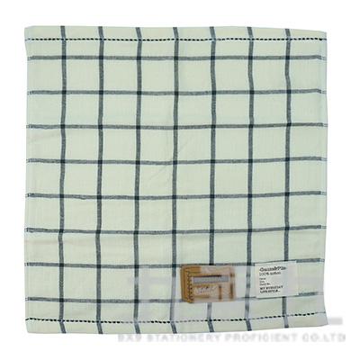 TS-2503 SKETCH 格紋小方巾/白 34x35