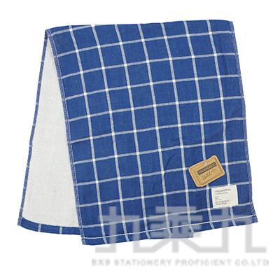 TS-4503 SKETCH 格紋毛巾/深藍 34x80