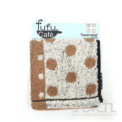 fufu cafe 抗菌防臭小方巾-咖啡 FUC-30162 @300