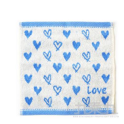 20X20 TROUSSEAU 愛心小方巾 藍 405600 QLT68-18