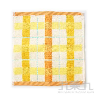 20X20 TROUSSEAU 格子小方巾 橘 405601 QLT69-18