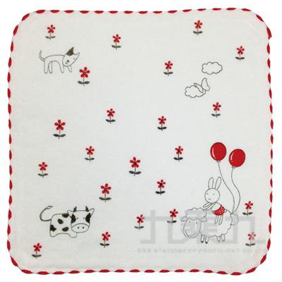 紗布動物家族小方巾 SG489K(款式多樣,隨機出貨,不挑款)