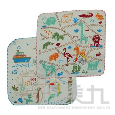 動物世界紗布小方巾 SG345K (款式隨機)