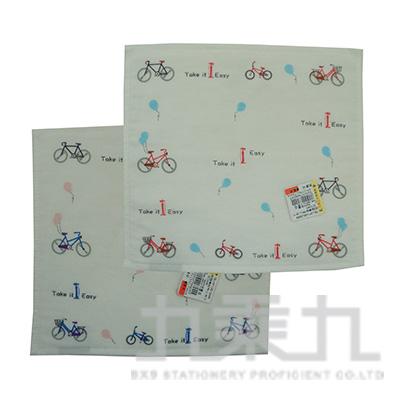 腳踏車紗布小方巾 SG344K (款式隨機)