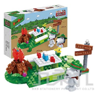 史努比積木系列-野餐趣