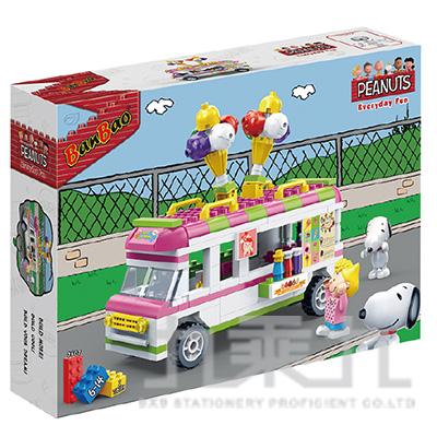 史努比積木系列-冰淇淋車