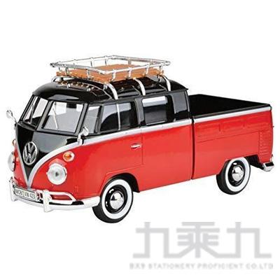1:24福斯合金車-小貨卡(黑紅) MMV79552