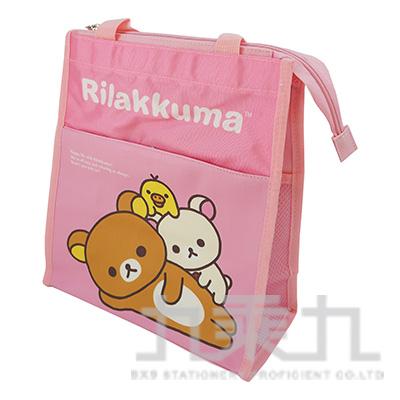 拉拉熊直式雙層補習袋-躺躺版 RKB23013A