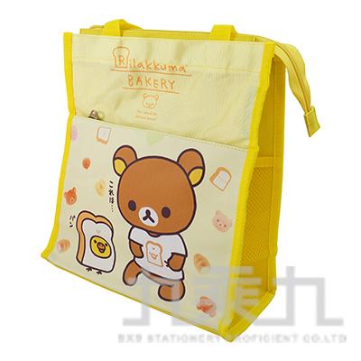 拉拉熊直式雙層補習袋-麵包版 RKB23013B