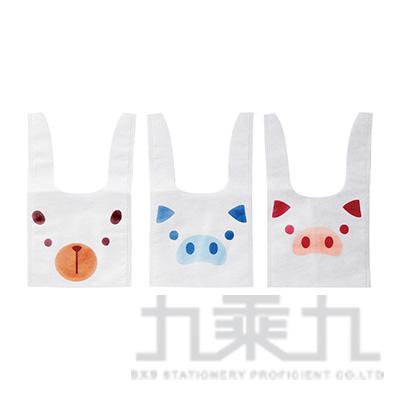 動物造型不織布提袋(4入) 401519