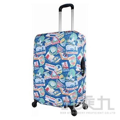 行李箱保護套22~26吋/環遊世界