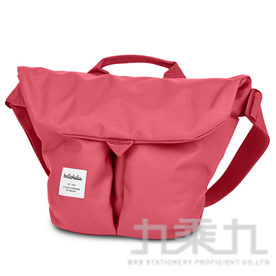 Hellolulu Kasen輕旅戶外側背包-珊瑚紅 HL50147-10