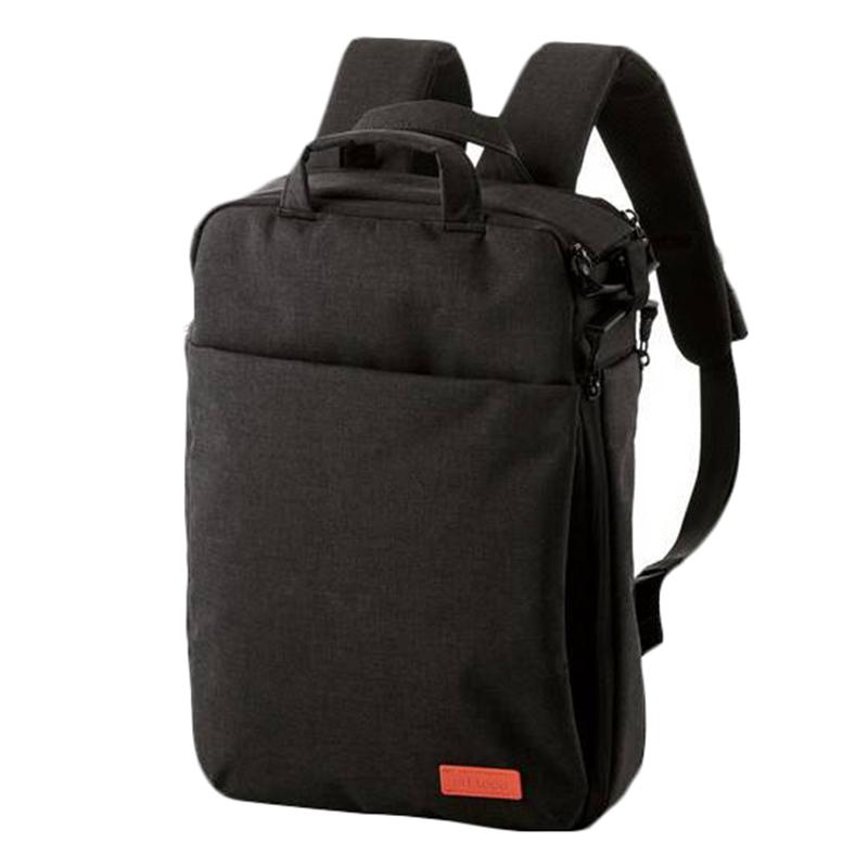 ELECOM 帆布3Way薄型後背包-黑 BM-OF01BK