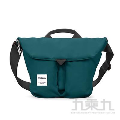 hellolulu KASEN 輕旅戶外側背包-藍綠