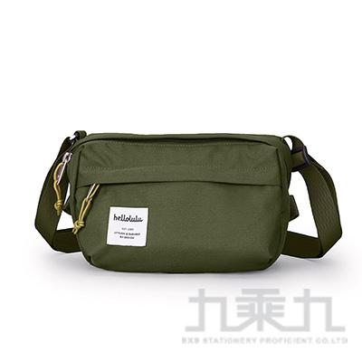 Hellolulu HOLLIS簡約外出側背包-橄欖綠