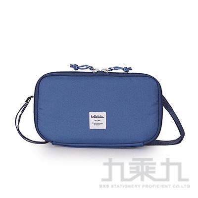 Hellolulu SHANNON收納側背包-煙燻藍