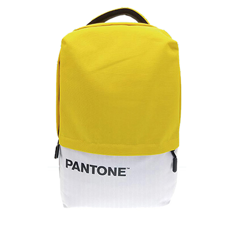 PANTONE學院風後背包(USB外接充電)-繽粉黃