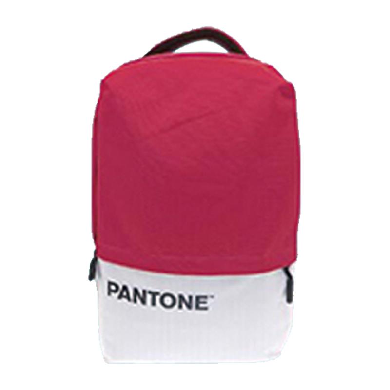 PANTONE學院風後背包(USB外接充電)-時尚粉