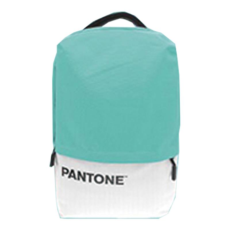 PANTONE學院風後背包(USB外接充電)-湖水綠