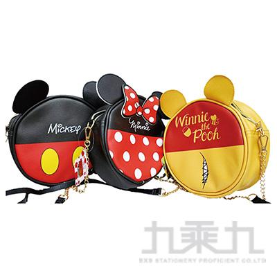 迪士尼圓型肩袋萬用包-維尼