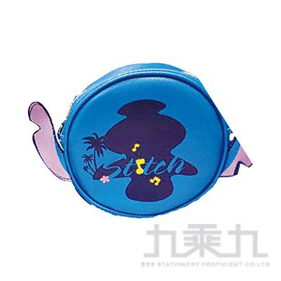 迪士尼圓型肩袋萬用包-史迪奇