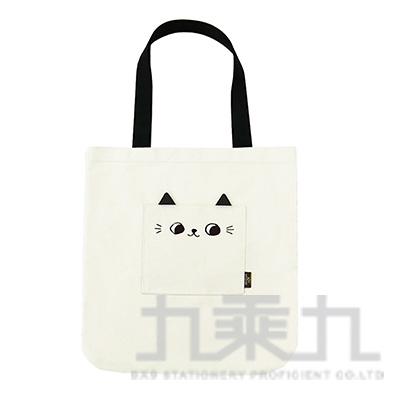 O-cat可愛貓耳口袋肩背包(白)