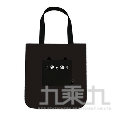 O-cat可愛貓耳口袋肩背包(黑)
