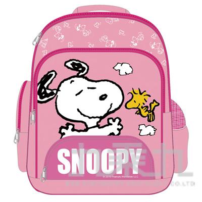 SNOOPY立體輕量護脊透氣書包-粉紅 DK-5328B