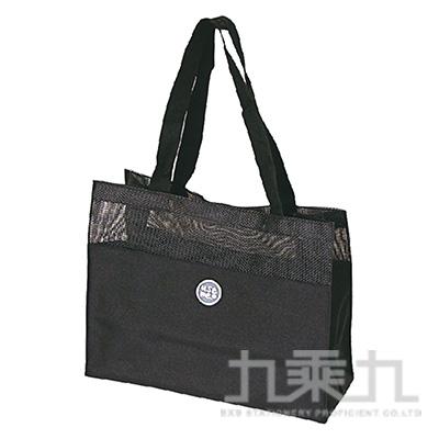 USE ME網格手提袋(黑)SBG-277B