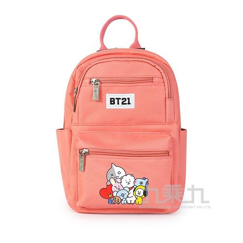 BT21夢想宣言小後背包-珊瑚紅