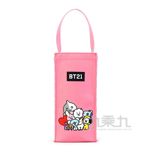 BT21夢想宣言保冷水壺袋-粉紅