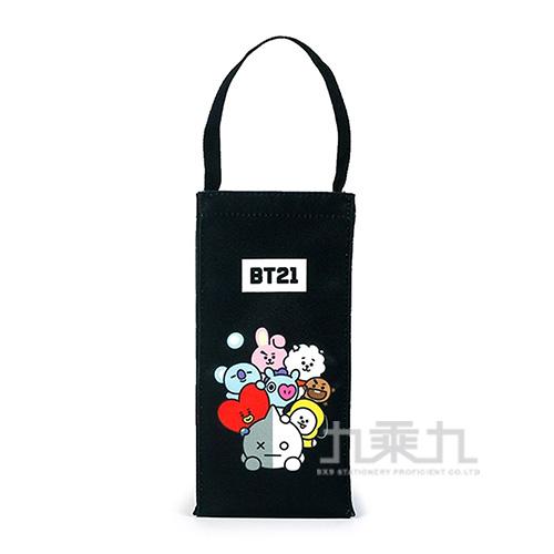 BT21夢想宣言保冷水壺袋-黑色