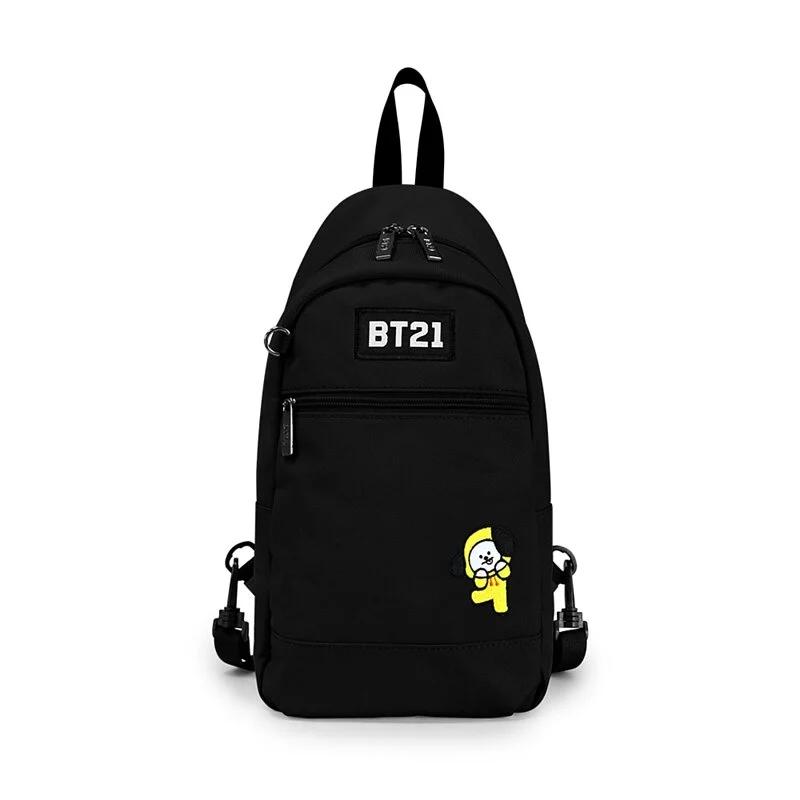 BT21率性風格單肩後背包-黑色H