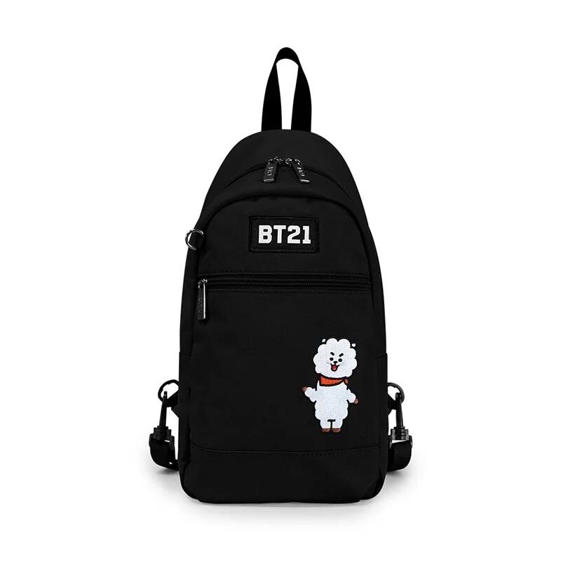 BT21率性風格單肩後背包-黑色R