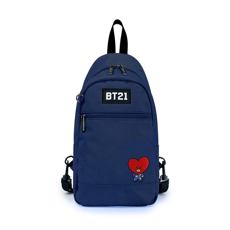 BT21率性風格單肩後背包-藍色T