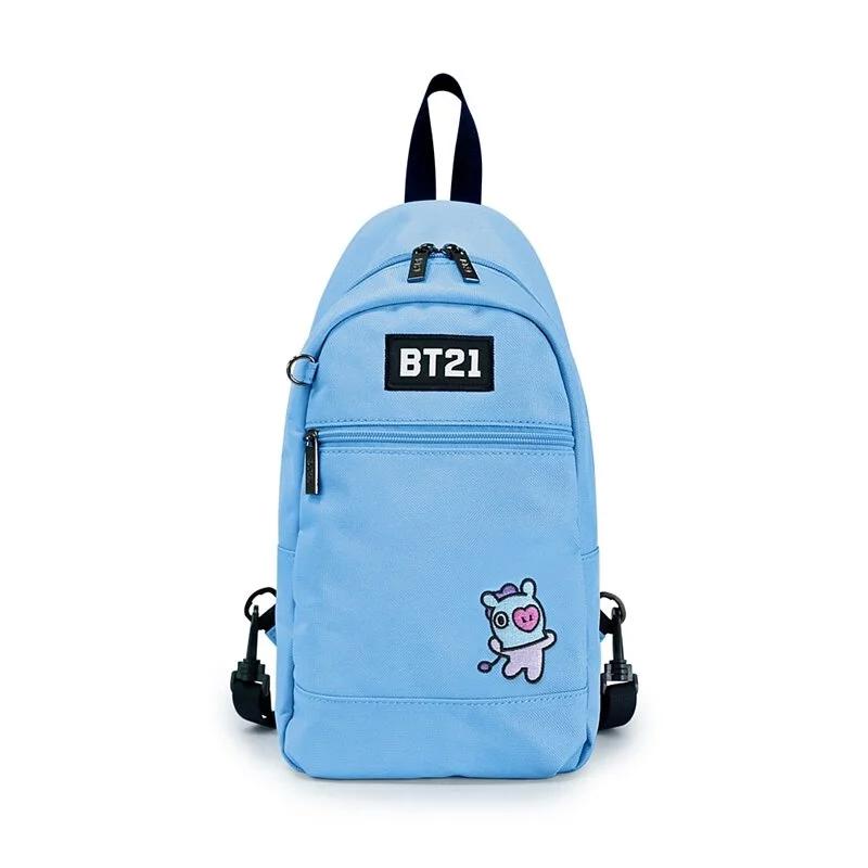 BT21率性風格單肩後背包-水藍M