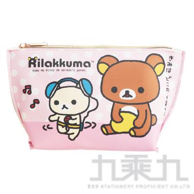 拉拉熊皮革三角化妝包跳舞版 RKB21101C