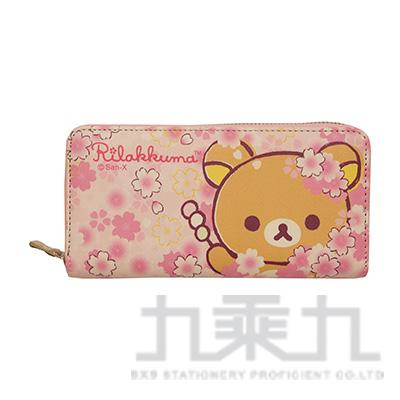 拉拉熊PU平口長夾櫻花版 RKB31012B