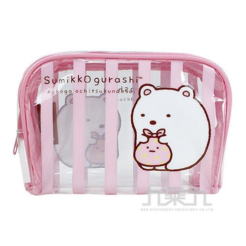 角落小夥伴旅行大方盥洗袋2粉紅