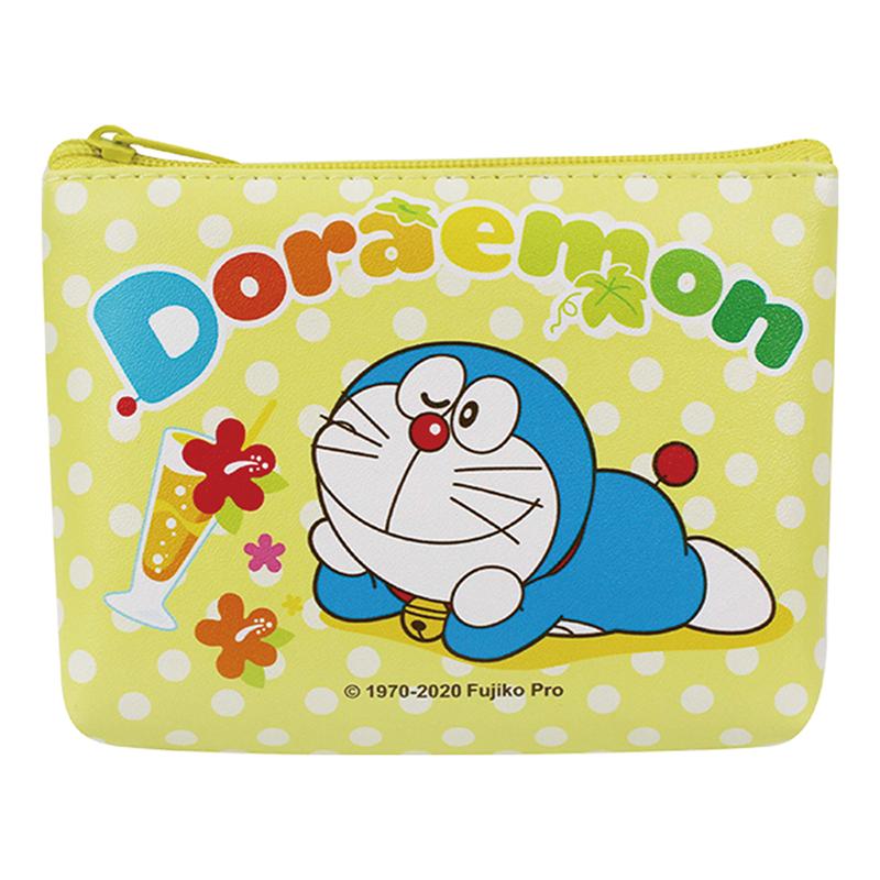 哆啦A夢拉造型零錢包-黃