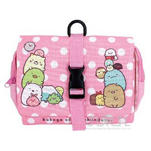 角落小夥伴折疊旅行收納袋小-粉紅
