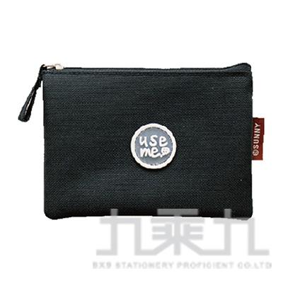 USE ME滴注雙層零錢包(黑)SBG-267B