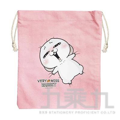 手感中束口袋(粉紅色)-好想兔 CBG-387A