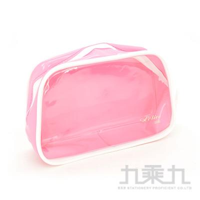 ACTIVE LIFE 方透明袋(粉/黃) KWP-03B