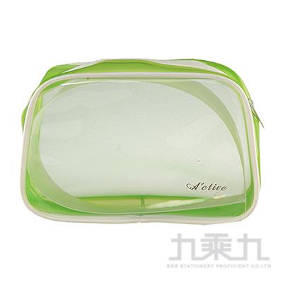 ACTIVE LIFE 方透明袋(綠) KWP-03C