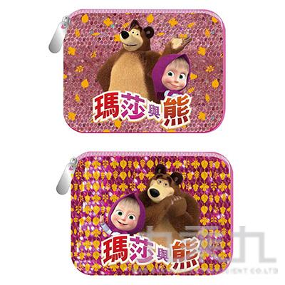 瑪莎與熊 閃亮方型零錢包 (款式隨機)