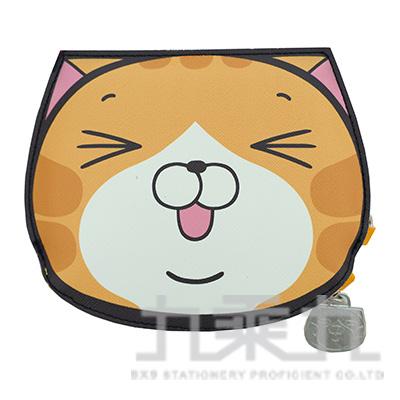 白爛貓造型票夾零錢包 LCDP180-1