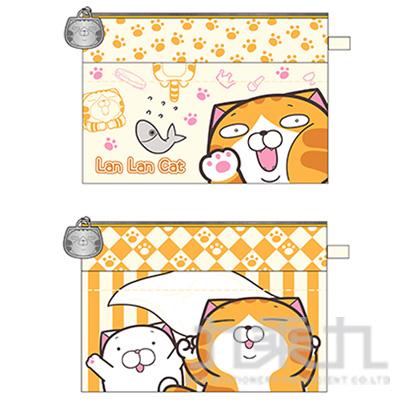 白爛貓雙層萬用袋 LCK230-1 (恕不挑款)