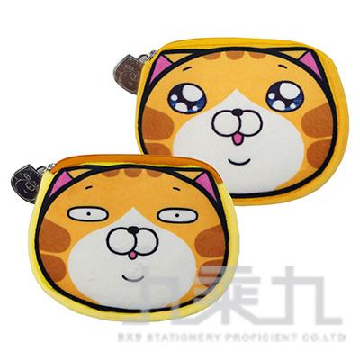 白爛貓絨毛票卡造型零錢包 LCDP169-1